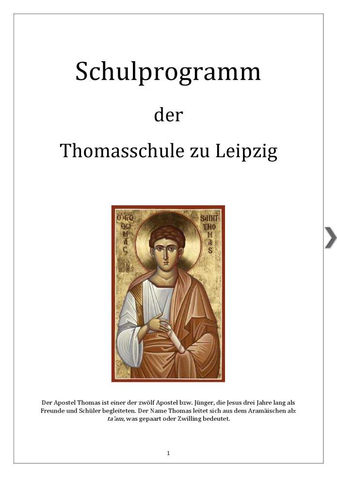 Thomasschule Titelblatt